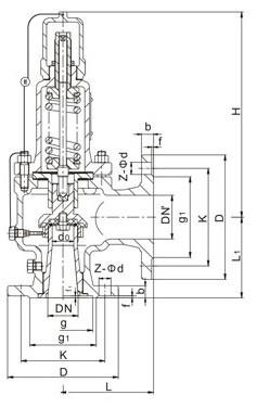 AH42F、A42F液化气安全阀,安全回流阀